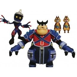 KINGDOM HEARTS - SOLDIER, PETE, CHIP AND DALE ACTION FIGURE DIAMOND SELECT