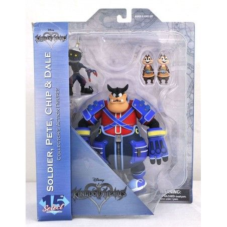 KINGDOM HEARTS - SOLDIER, PETE, CHIP AND DALE ACTION FIGURE