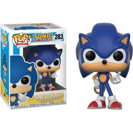 FUNKO POP! SONIC THE HEDGEHOG WITH RING BOBBLE HEAD KNOCKER FIGURE