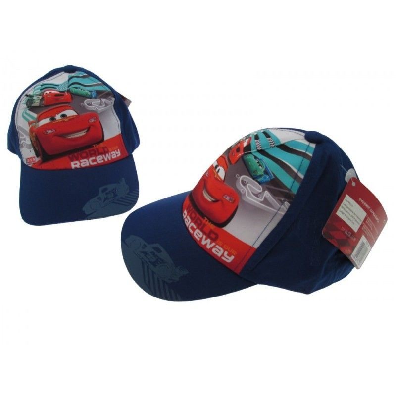 CAPPELLO BASEBALL CAP DISNEY CARS WORLD RACEWAY BLU ROYAL