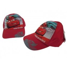 CAPPELLO BASEBALL CAP DISNEY CARS WORLD RACEWAY ROSSO