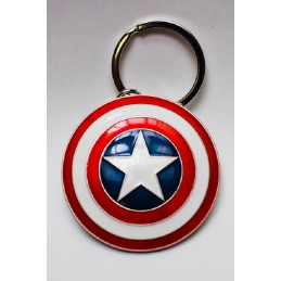 CAPTAIN AMERICA SHIELD SCUDO PORTACHIAVI KEYCHAIN SEMIC