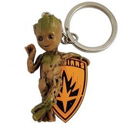 SEMIC GUARDIANS OF THE GALAXY BABY GROOT FIGURE KEYRING KEYCHAIN PORTACHIAVI