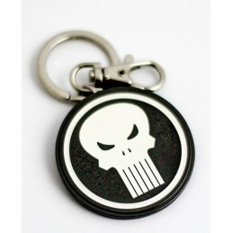 MARVEL THE PUNISHER LOGO METAL KEYRING KEYCHAIN PORTACHIAVI