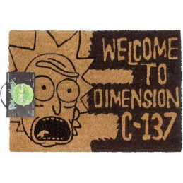 RICK AND MORTY DIMENSION C-137 DOORMAT ZERBINO 40X60CM