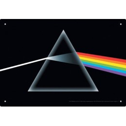 PINK FLOYD DARK SIDE METAL TIN SIGN TARGA METALLO 20X29cm