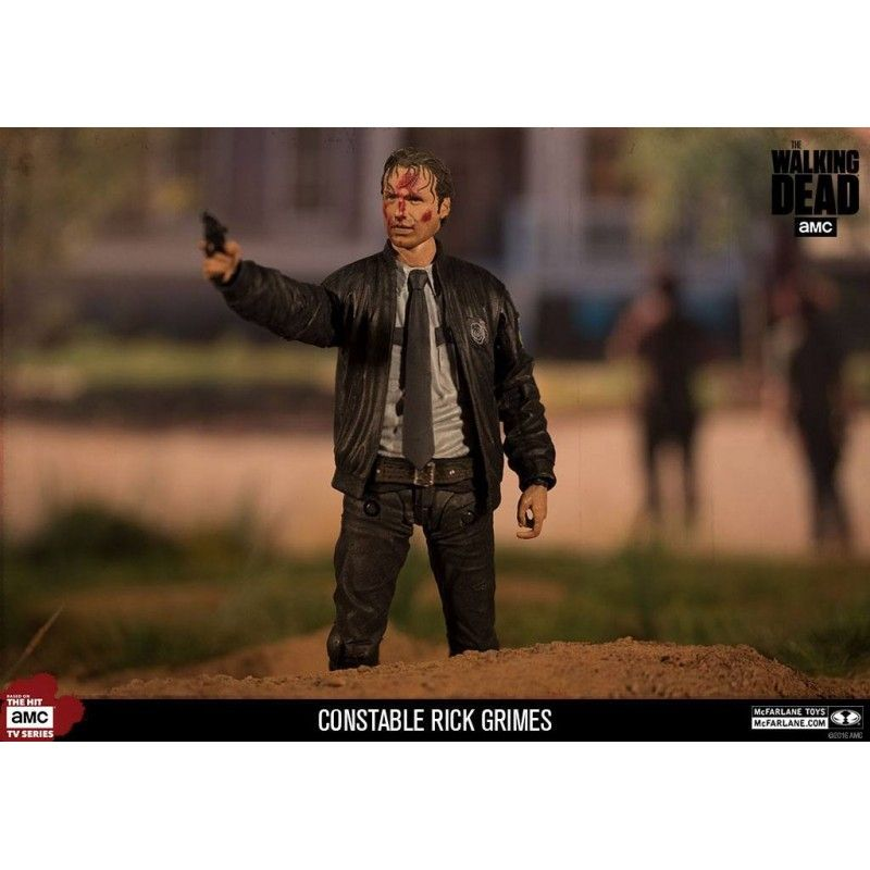 THE WALKING DEAD CONSTABLE RICK GRIMES ACTION FIGURE MC FARLANE