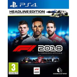 FORMULA 1 2018 HEADLINE EDITION PS4 NUOVO ITALIANO