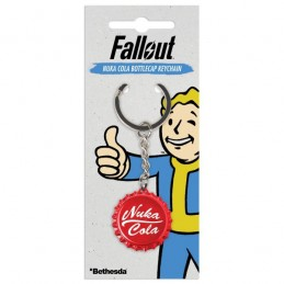 GAYA ENTERTAINMENT FALLOUT NUKA COLA BOTTLECAP METAL KEYCHAIN PORTACHIAVI