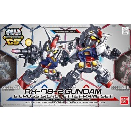 SD GUNDAM CROSS SILHOUETTE AND FRAME RX-78-2 SET MODEL KIT