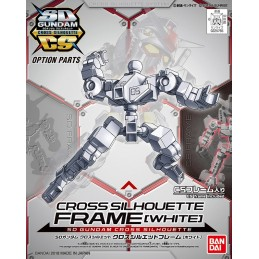 SD GUNDAM CROSS SILHOUETTE FRAME WHITE MODEL KIT