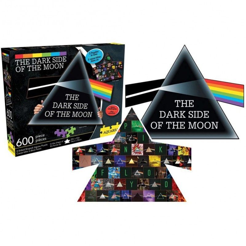 PINK FLOYD DARK SIDE 2 IN 1 600 PIECES PEZZI JIGSAW PUZZLE 74x58cm