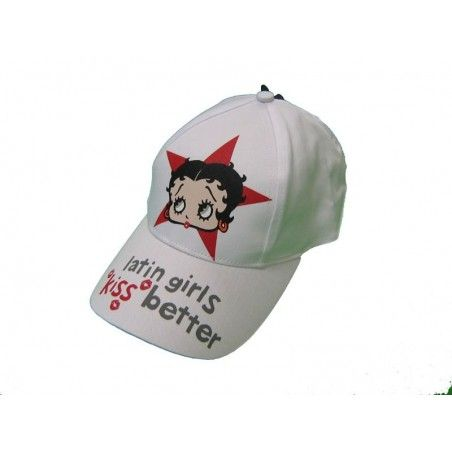 CAPPELLO BASEBALL CAP BETTY BOOP LATIN GIRLS BIANCO