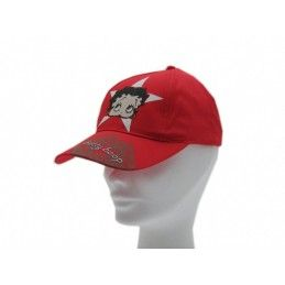 CAPPELLO BASEBALL CAP BETTY BOOP ROSSO