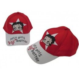 CAPPELLO BASEBALL CAP BETTY BOOP LATIN GIRLS ROSSO