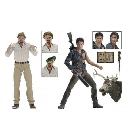 EVIL DEAD 2 - ASH AND EVIL ED 2-PACK 30TH ANNIVERSARY ACTION FIGURE