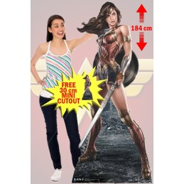 WONDER WOMAN ARTWORK LIFESIZED 184 CM CUTOUT SAGOMATO STAR