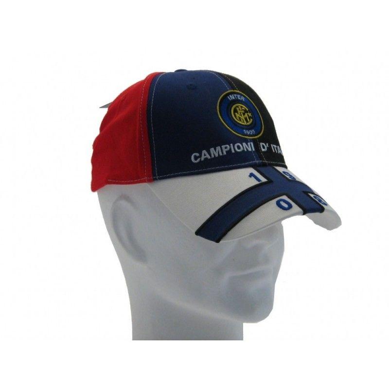 CAPPELLO BASEBALL CAP FC INTERNAZIONALE UFFICIALE CAMPIONI D'ITALIA