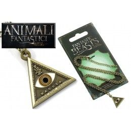 ANIMALI FANTASTICI - FANTASTIC BEASTS EYE NECKLACE COLLANA CON CIONDOLO CARAT