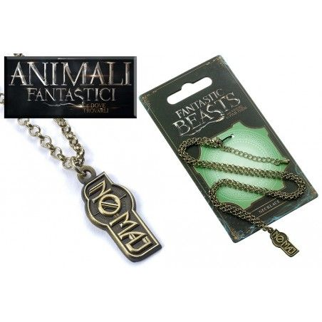 ANIMALI FANTASTICI - FANTASTIC BEASTS NO MAJ NECKLACE COLLANA CON CIONDOLO