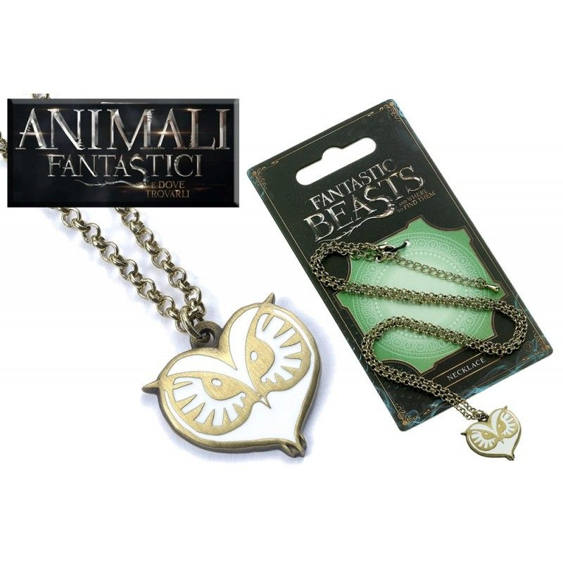 ANIMALI FANTASTICI - FANTASTIC BEASTS OWL NECKLACE COLLANA CON CIONDOLO CARAT