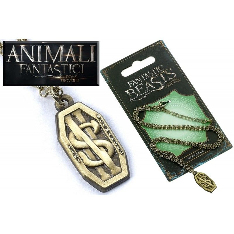 CARAT ANIMALI FANTASTICI - FANTASTIC BEASTS SCAMANDER NECKLACE COLLANA CON CIONDOLO