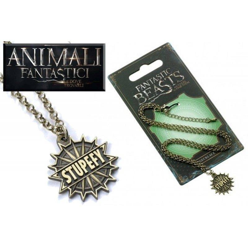 ANIMALI FANTASTICI - FANTASTIC BEASTS STUPEFY NECKLACE COLLANA CON CIONDOLO CARAT