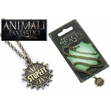 ANIMALI FANTASTICI - FANTASTIC BEASTS STUPEFY NECKLACE COLLANA CON CIONDOLO