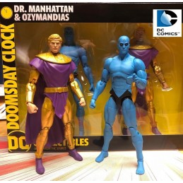 DOOMSDAY CLOCK- THE WATCHMEN DR. MANHATTAN AND OZYMANDIAS 2-PACK ACTION FIGURE DC COLLECTIBLES