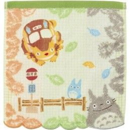 TOTORO BUS STOP STUDIO GHIBLI MINI TOWEL ASCIUGAMANO SEMIC