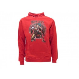FELPA HOODIE MARVEL AVENGERS IRON MAN AGE OF ULTRON ROSSA
