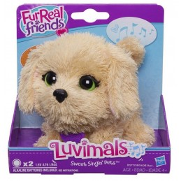THE LUVIMALS FUR REAL DOG CANE SONORO 11CM PLUSH PELUCHES FIGURE