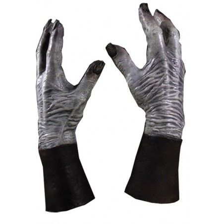 GAME OF THRONES WHITE WALKER DELUXE LATEX MANI GUANTI GLOVES HANDS