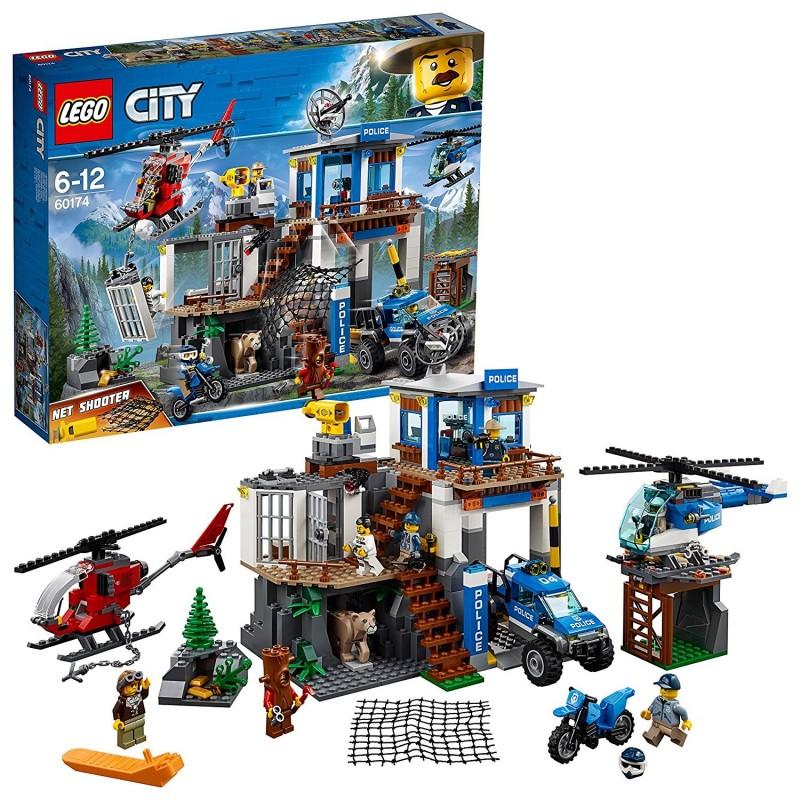 LEGO CITY POLICE - QUARTIER GENERALE POLIZIA MOUNTAIN POLICE HEADQUARTERS 60174