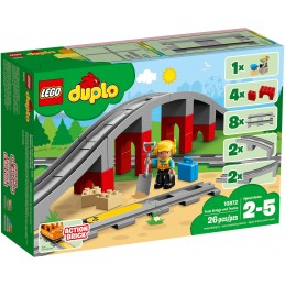 LEGO DUPLO PONTE E BINARI FERROVIARI Train Bridge and Tracks 10872