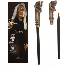 HARRY POTTER - LUCIUS MALFOY WAND PEN AND BOOKMARK PENNA E SEGNALIBRO NOBLE COLLECTIONS