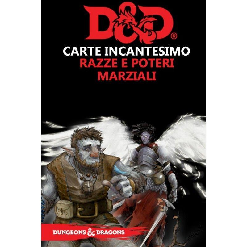 DUNGEONS AND DRAGONS 5 ED CARTE INCANTESIMO RAZZE E POTERI MARZIALI ASMODEE