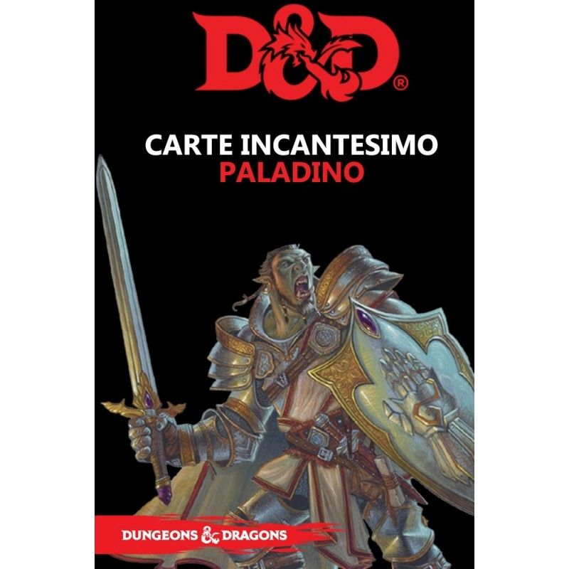 DUNGEONS AND DRAGONS 5 EDIZIONE CARTE INCANTESIMO PALADINO ITALIANO