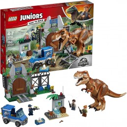 LEGO JUNIORS JURASSIC WORLD EVASIONE DEL T-REX Breakout 10758