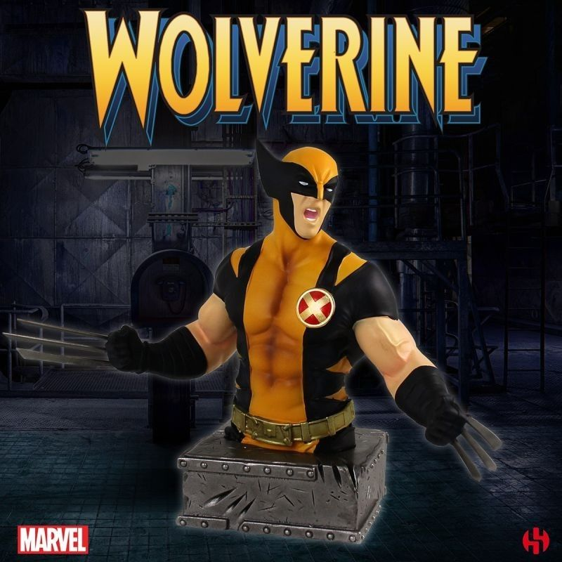 Marvel comics wolverine bust resin statue 15 cm figure semic