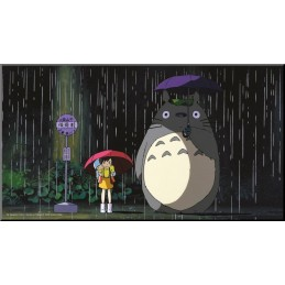 TOTORO BUS STOP WOOD PANEL QUADRO IN LEGNO 37X20CM