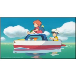 PONYO AND SOSUKE WOOD PANEL QUADRO IN LEGNO 37X20CM