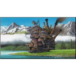 CASTELLO ERRANTE DI HOWL'S MOVING CASTLE WOOD PANEL QUADRO IN LEGNO 37X20CM