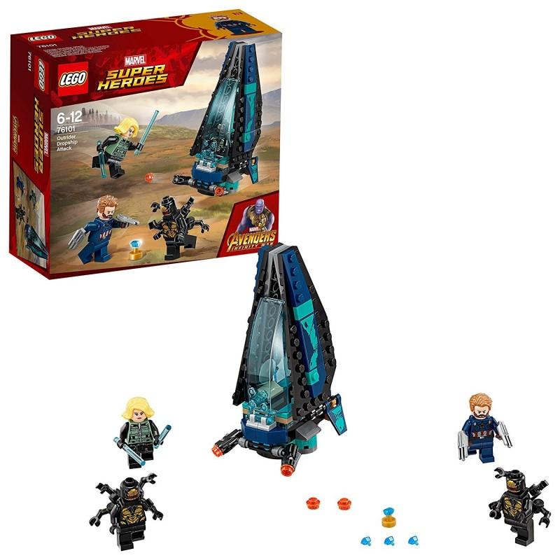 LEGO SUPER HEROES ATTACCO DROPSHIP Outrider Dropship Attack 76101