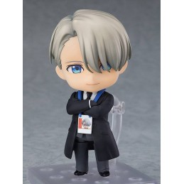 YURI!!! ON ICE NENDOROID VIKTOR NIKIFOROV COACH ACTION FIGURE ORANGE ROUGE