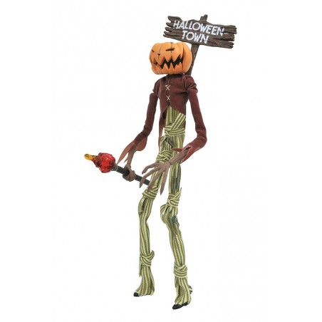 NIGHTMARE BEFORE CHRISTMAS SILVER ANNIVERSARY PUMPKIN KING ACTION FIGURE