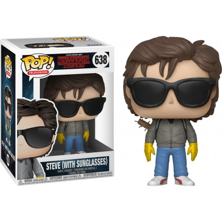 FUNKO POP! STRANGER THINGS STEVE WITH SUNGLASSES BOBBLE HEAD KNOCKER FIGURE