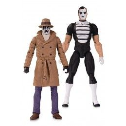 DOOMSDAY CLOCK - THE WATCHMEN RORSCHACH AND MIME 2-PACK ACTION FIGURE DC COLLECTIBLES