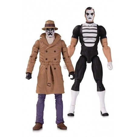 DOOMSDAY CLOCK - THE WATCHMEN RORSCHACH AND MIME 2-PACK ACTION FIGURE