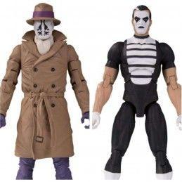 DC COLLECTIBLES DOOMSDAY CLOCK - THE WATCHMEN RORSCHACH AND MIME 2-PACK ACTION FIGURE